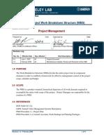 PMO-1.2 Project Work Breakdown Structure