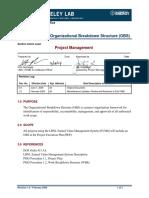 PMO-1.3 Project Organizational Breakdown Structure