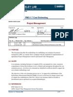 PMO-1.7 Cost Estimating
