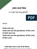 Taste and See lyrics