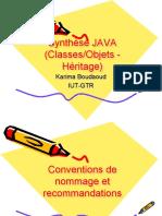 Java Classe Objet Heritage