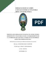 Control Interno Administrativo y Financiero Empresa Privada