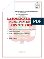 Posición de los Principios de la Constitución