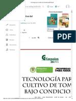 Tecnologia Para El Cultivo Del Tomate(CLIENTE)