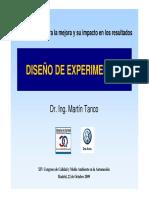 Metodologías Para La Mejora y Su Impacto en Los Resultados Diseño de Experimentos.2009