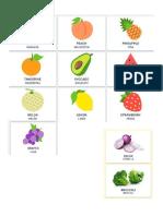 10 Frutas, Verduras, Escuela, Cocina, Casa, Tramsportes
