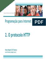 Programação Para Internet I. 2. O Protocolo HTTP. Nuno Miguel Gil Fonseca Nuno.fonseca@Estgoh.ipc.Pt