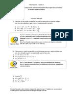 Exercícios de Fixação - Cálculo 2 - Curvas Parametrizadas