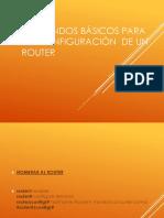 Comandos Configuracion Router