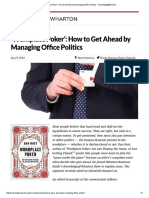'Workplace Poker'_ How to Get Ahead by Managing Office Politics