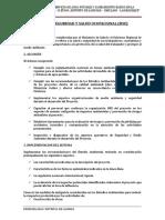 1. Plan de Seguridad y Salud Ocupacional