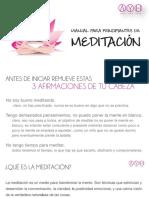 guia para aprender a meditar