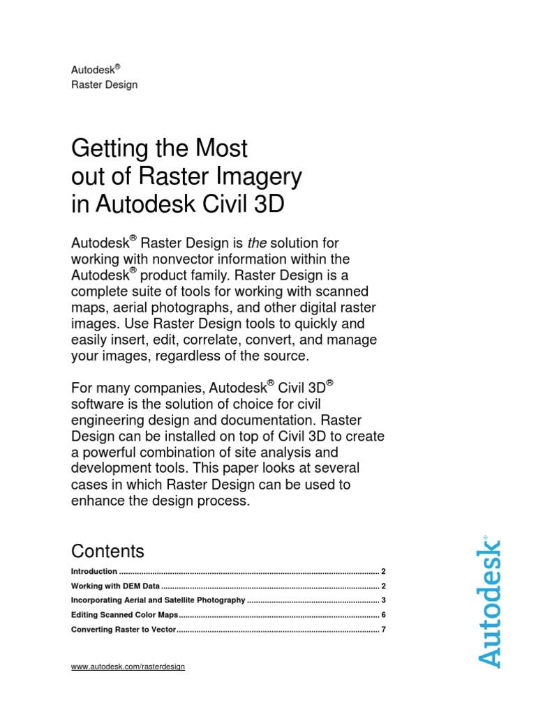 Whitepaper Autodesk Raster Design-Civil 3D | 3 D Computer