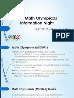 2017 Math Olympiads School Presentation