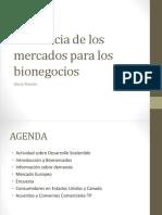 Tendencia de los mercados para los bionegocios