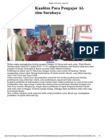 Meningkatkan Kualitas Para Pengajar Al-Quran Anak Yatim Surabaya