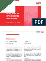4º Trimestre 2018 - Indicadores Imobiliários Nacionais - APRESENTAÇÃO FINAL