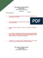 Assignment - Management Function & Behavior