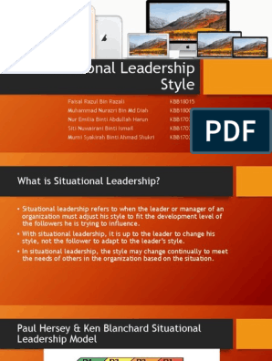 Paul Hersey Ken Blanchard Situational Leadership Model Leadership Social Psychology