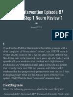 Divine Intervention Episode 87 Usmle Step 1 Neuro Review 1