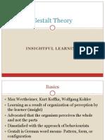 Gestalt Insight learning