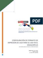 Configuración de Formato de Impresión de Caja Para Su Uso en El Sisgalenplus Documentación Del Sistema de Gestión Hospitalaria