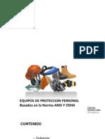EQUIPO DE PROTECCION PERSONAL EPP SEGUN ACUERDO 229-2014 Y SUS REFORMAS