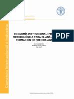 Varios -Economía institucional.Formación precios agrícolas