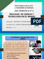 6_UNIDAD_Realidad de La Ciencia y Tecnología en El Mundo