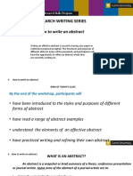 Research Writing Series 6 How to Write an Abstract