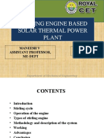 Stirling Engine Solar Power Plant