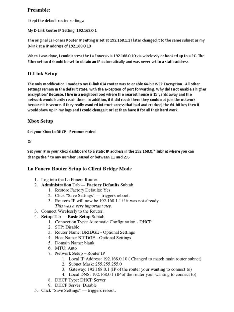Client Bridge Setup Dd-wrt | Ip Address | Router (Computing)