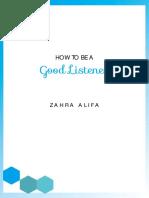menjadi pendengar