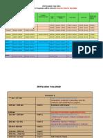 2019 Tentative Academic Calendar 13-2-19