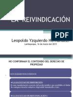 14.-LA  REIVINDICACIÓN.pptx
