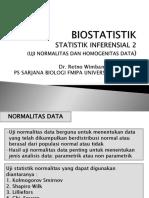 BIOSTATISTIK (S.inferensial Normalitas Dan Homogenitas) (1)