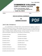 Gandhian Conference Template