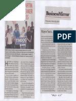 Business Mirror, Mar. 20, 2019, Mayor Sara Martin Romualdez Speaker of next Congress.pdf