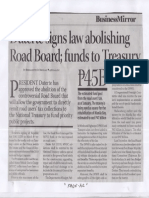 Business Mirror, Mar. 20, 2019, Duterte signs law abolishing Road Board funds to Treasury P45B.pdf