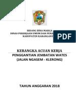 5.2018 DAU KAK Pengantian Jembatan Wates Jalan Ngasem Klerong