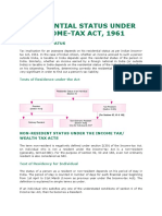 RESIDENTIAL STATUS UNDER INCOME-TAX ACT, 1961.docx