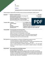 Resume Exp11