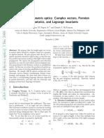 Sugon Geometric Algebra Matrix Optics