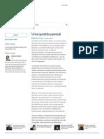 Uma Questão Pessoal - Merval Pereira
