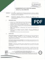 Disposicion Administrativa de Caracter General Dga 008-2018