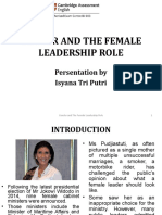 GENDER AND THE FEMALE LEADERSHIP ROLE (ISYANA).ppt