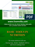 Basic Tools in Nutrition