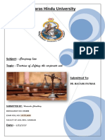Project of Company Law