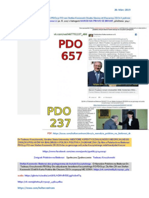 https://www.scribd.com/document/402482293/O-Narodzie-Polskim-na-Bialorusi-Dr-Tadeusz-Kruczkowski-PDO657-Do-odzydzania-Jaroslawa-Kaczynskiego-FO-PDO237-Zly-film-ZR-von-Stefan-Kosiewski-SSetKh-K
