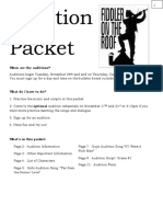Fiddler on the Roof Audition Packet